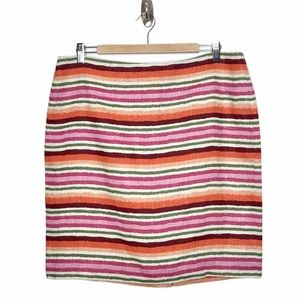 Talbots Striped Linen Pencil Skirt Size 14P